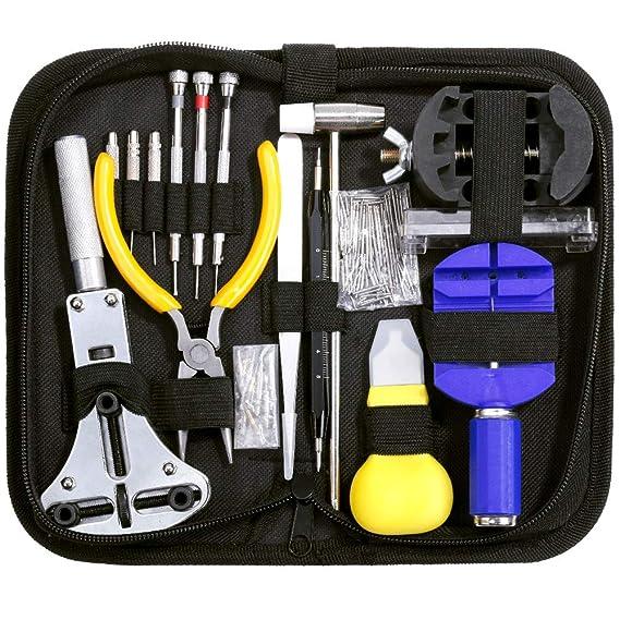 Zacro Uhrmacherwerkzeug Set 151pcs Uhrenwerkzeug Set mit Professionelles Justierbare Gehäuseöffner Fachmann Werkzeug Set für