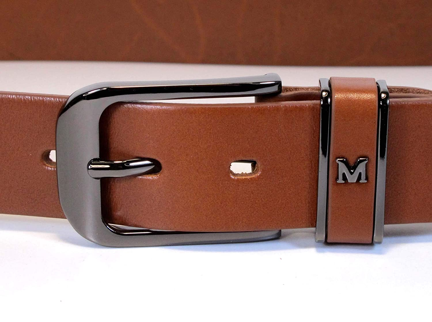 Womens Real Genuine Leather Belt Black Brown White 1.25 Wide S-L Casual Jeans TU2