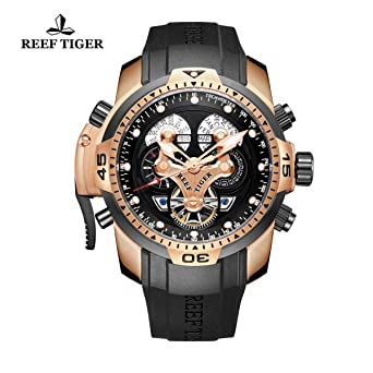 complicated pbbg com tiger amazon rose men strap s autoamtic complex rubber watch dp watches gold sport reef