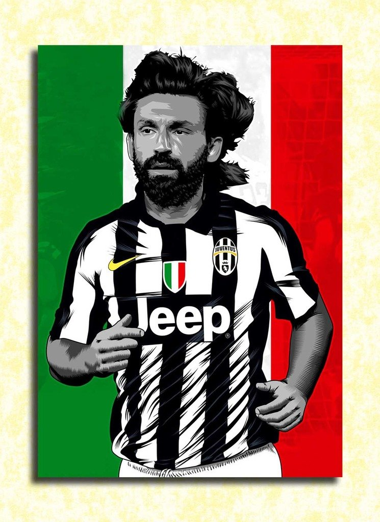 Tamatina Juventus Football Club Wall Poster Andrea Pirlo Hd Quality Football Poster Amazon In Home Kitchen