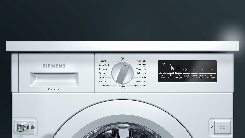 Siemens iQ700 WI14W440 Integrado Carga frontal 8kg 1355RPM A+++ ...
