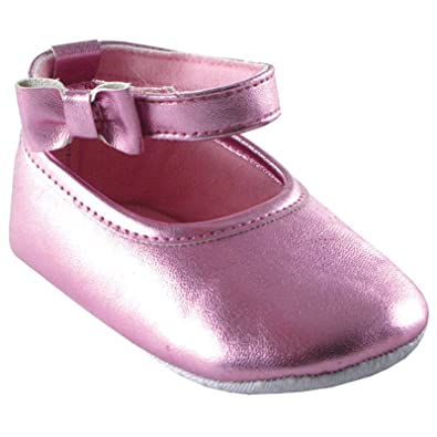Baby Shoes 6 Months Girl Ankle Bow Shoe, Light Pink, 0-6 months Baby