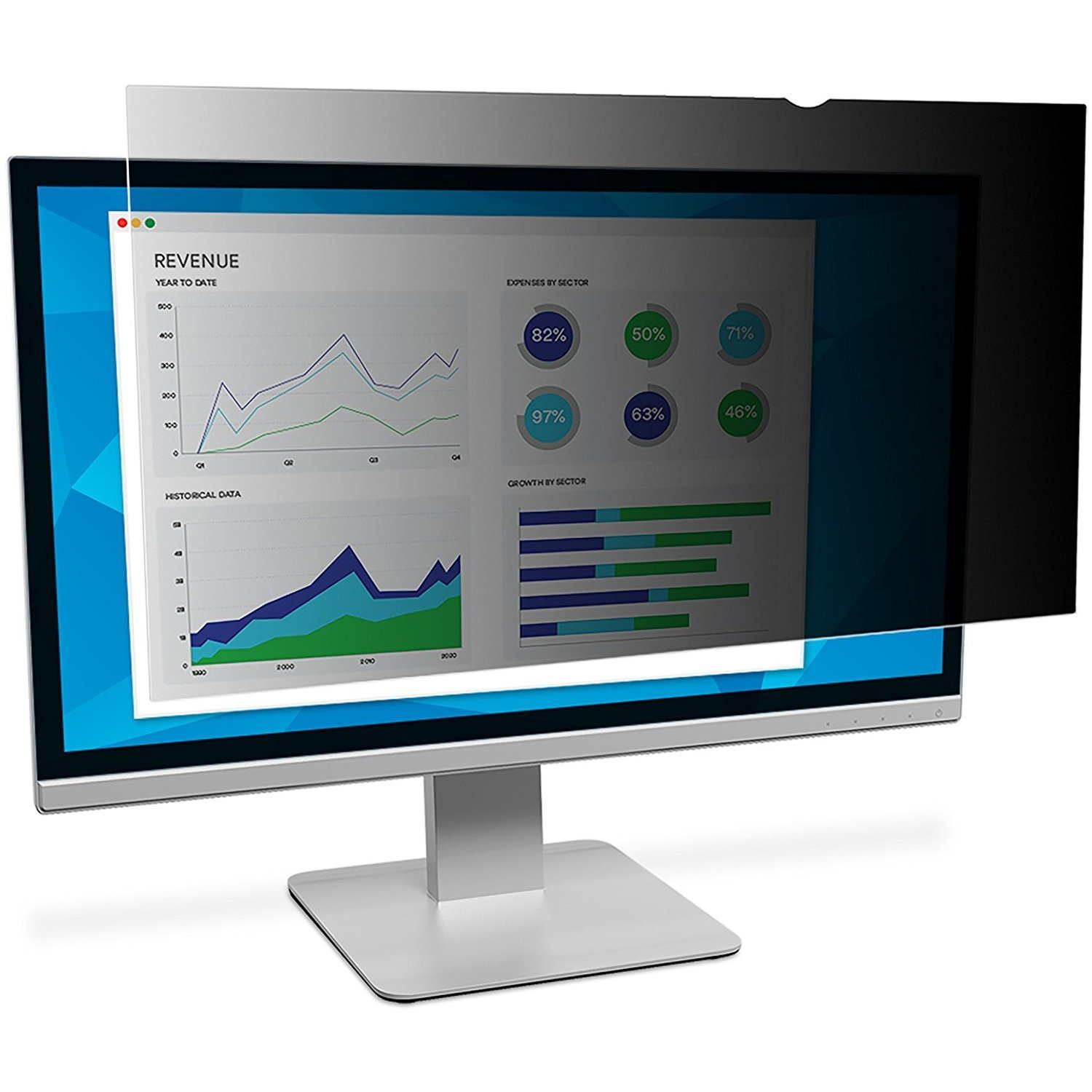 3M Privacy Filter for 25'' Widescreen Monitor (PF250W9B) Landscape by 3M (Image #1)