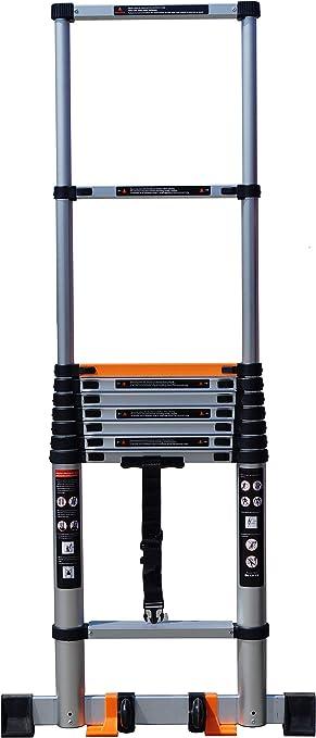 YiHai escalera telescópica portátil de aluminio escalera telescópica escalera escalera compacta Loft escaleras: Amazon.es: Bricolaje y herramientas