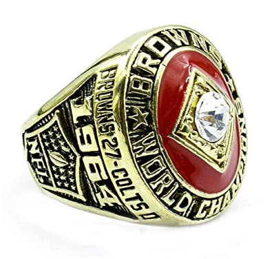 26ba66c12ca The Year 1964 Cleveland Championship Set Rings for Mens Ruby Gem ...