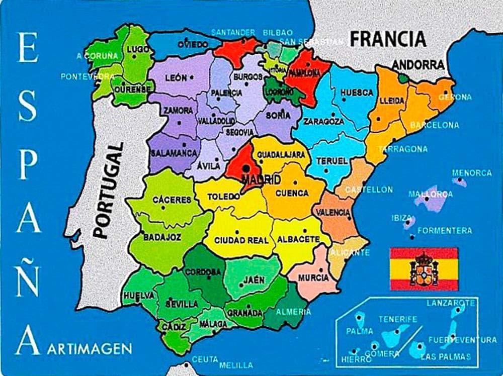 Artimagen Pegatina Mapa Provincial España 80x60 mm.: Amazon.es ...