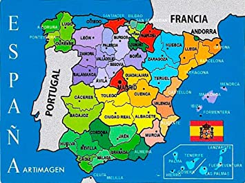 Artimagen Pegatina Mapa Provincial España 80x60 mm.: Amazon ...