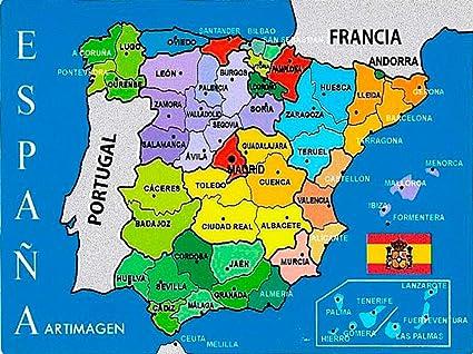 Artimagen Pegatina Mapa Provincial España 80x60 mm.: Amazon.es: Coche y moto