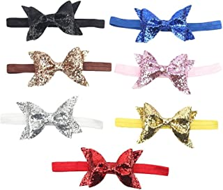 American Trends Baby Girl Newest Turban Headband Head Wrap Knotted Hair Band(B-5 Pairs-Mix Color) ATACBS0541AZA1P