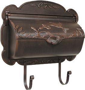 Special Lite Products SHB-1004-CP Hummingbird Horizontal Mailbox, Copper