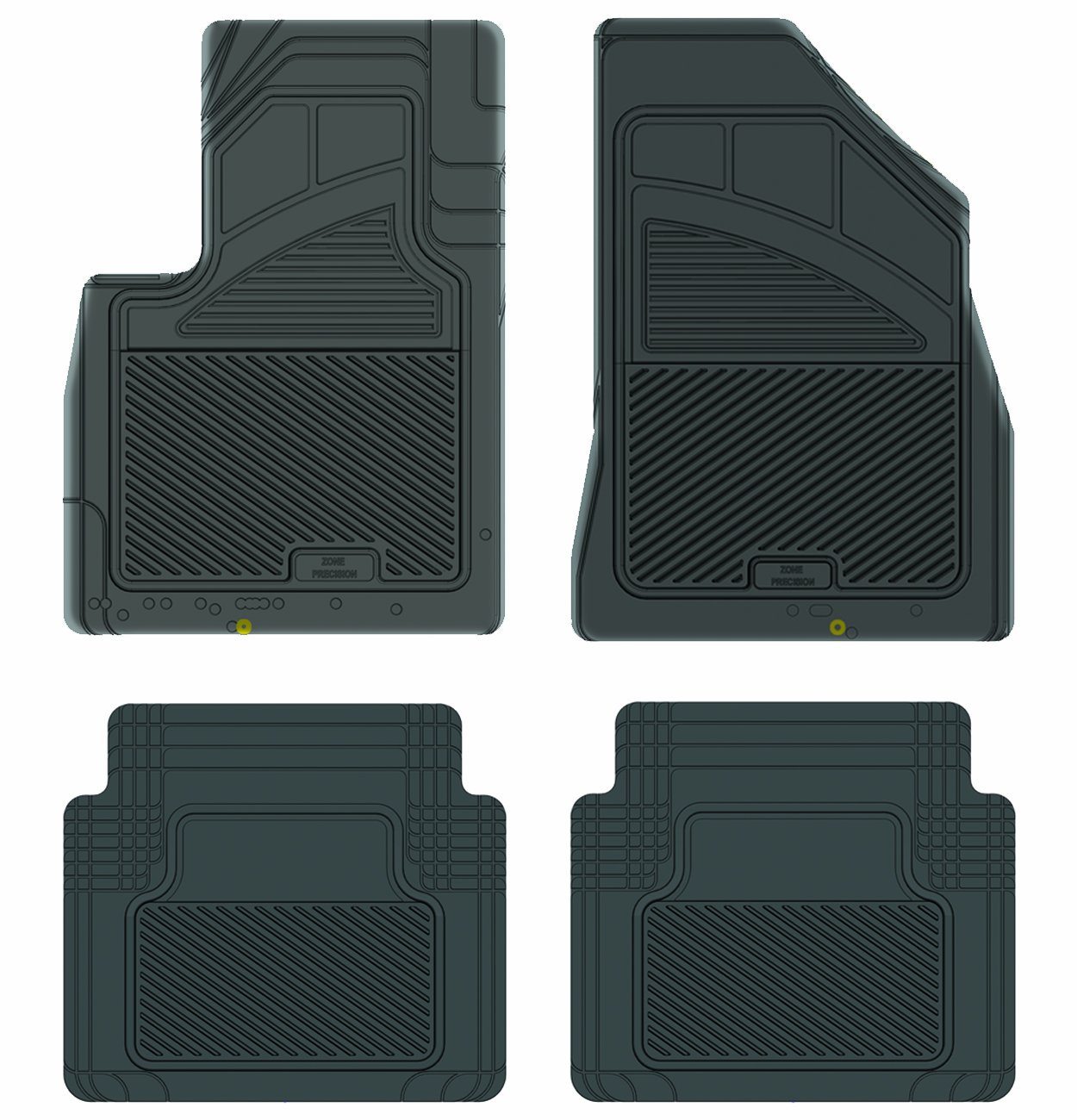 Black Koolatron Pants Saver Custom Fit 4 Piece All Weather Car Mat for Select Hyundai Santa Fe Models