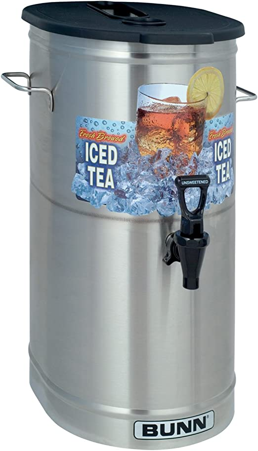 Wilbur Curtis Iced Tea Dispenser 5.0 Gallon Round Tea Dispenser TC-5H-S Short Each Designed to Preserve Flavor