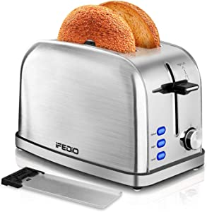 Toaster 2 Slice Toasters Best Rated Prime Extra Wide Slot Toaster with Bagel/Defrost/Cancel Function Bread Shade Settings Removable Crumb Tray Compact Stainless Steel Toaster 900W Silver