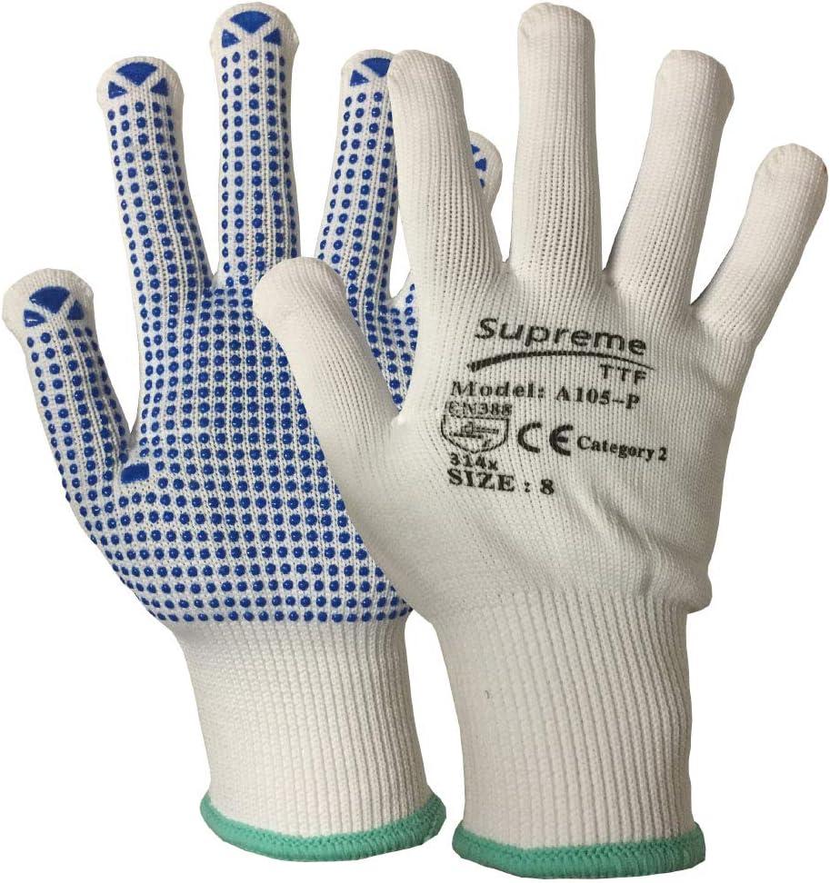 20pares Nylon guantes de lunares, selector de seguridad obturador agarre ingeniería