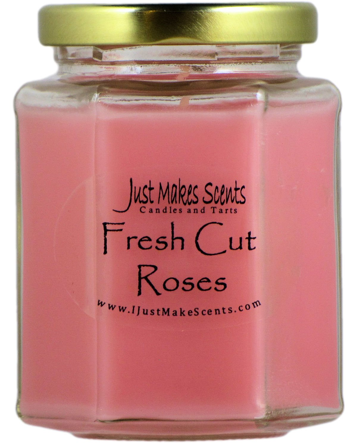 Just Makes Scents Fresh Cut Roses Scented Blended Soy Candle - FRESH CUT ROSES: Smells like a beautiful bouquet of fresh roses FRAGRANT: Fills the room with amazing rose fragrance LONG LASTING: 8 oz jar candle burns for approximately 40 hours - living-room-decor, living-room, candles - 71O6QcCkIrL -