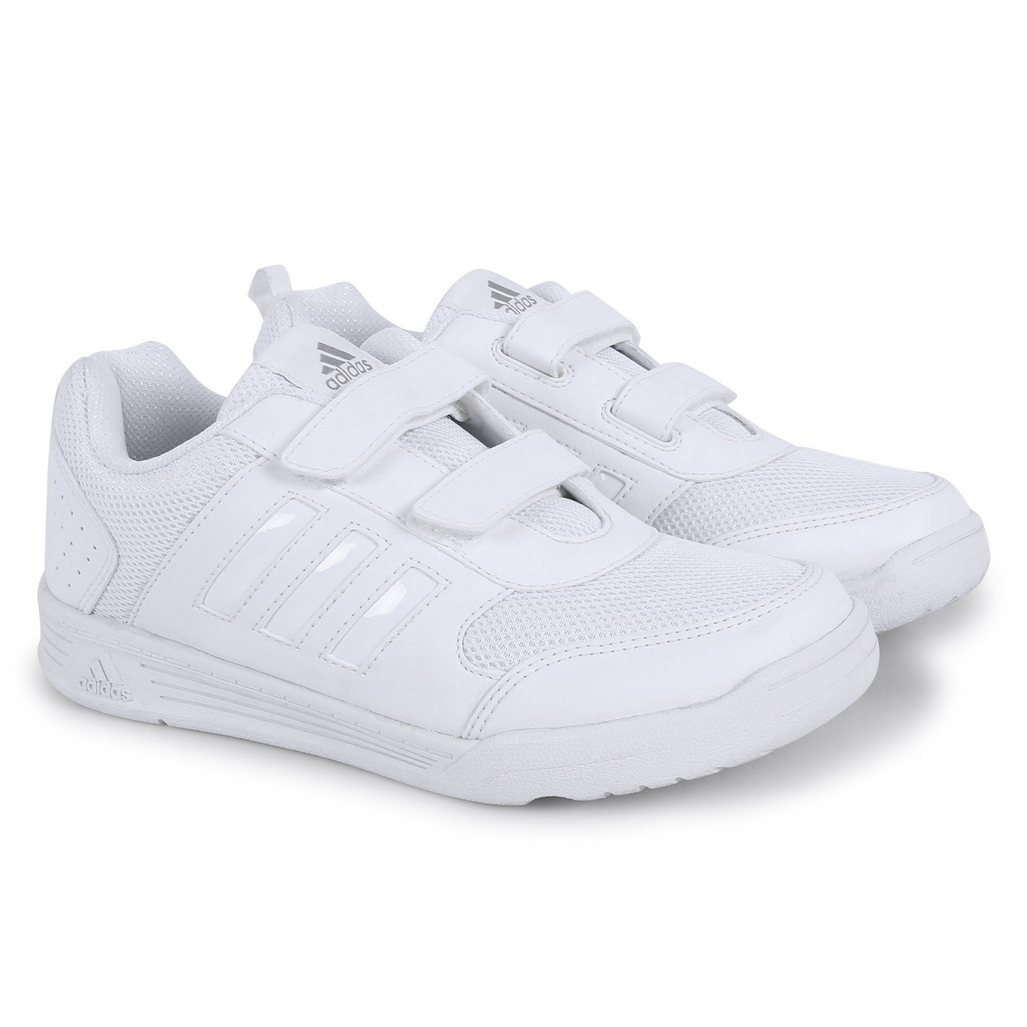 096d8c0c39f Adidas White School Shoes - Sports Shoes Kids Range (3 to 12 Years)  Buy  Online at Low Prices in India - Amazon.in