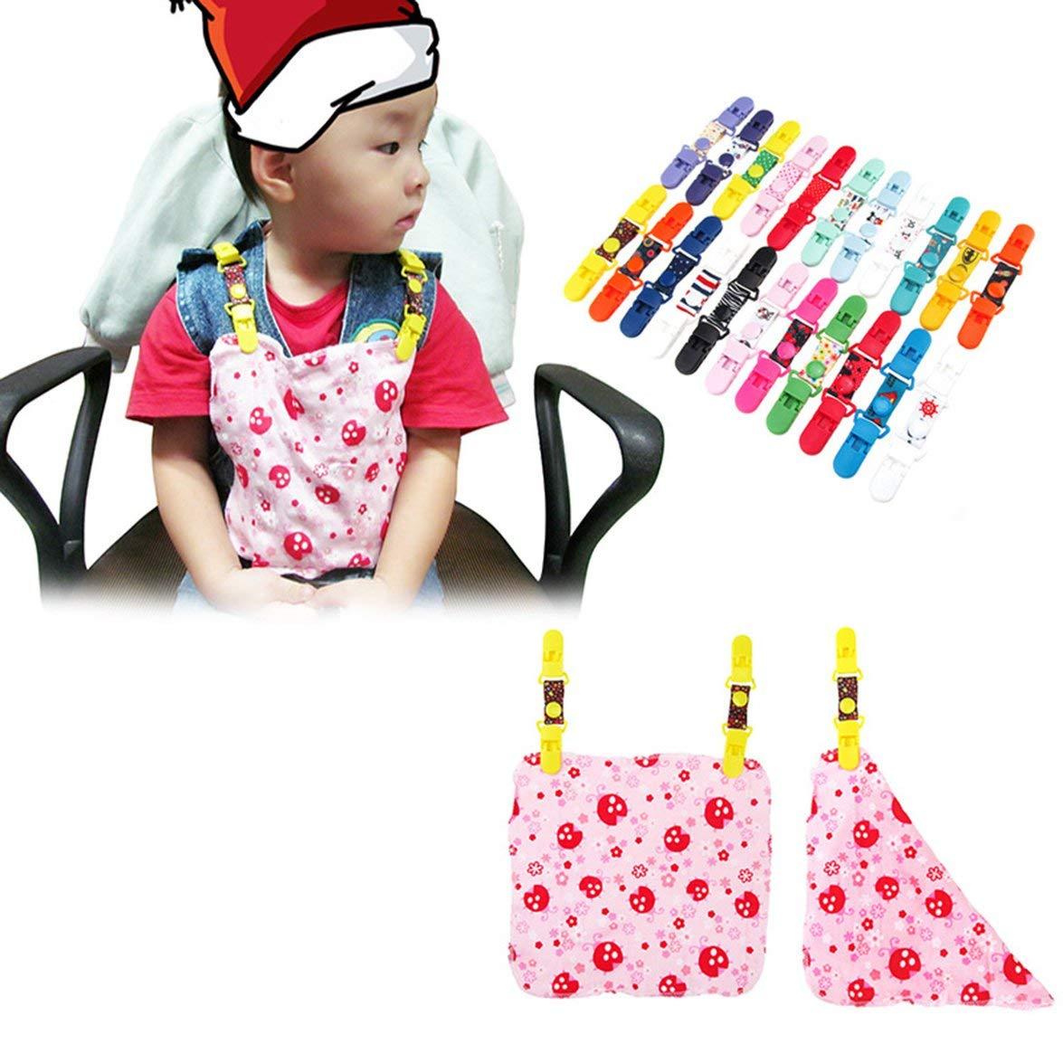 Vinkent Baby Safety Products Cha/îne de s/écurit/é pour Serviettes de b/éb/é avec Fermeture /à glissi/ère pour b/éb/és