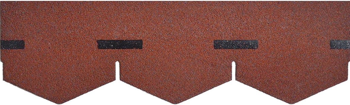 10er Pack Dachschindeln Dreieck Rot 10x 3 m/² = 30 m/²