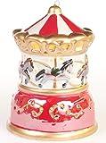 Mr. Christmas Illuminated Porcelain Christmas Ornament Christmas Decoration (Carousel)