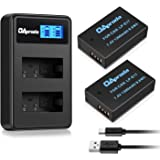 OAproda 2 Pack Upgraded LP-E17 Battery and LCD Display Dual Micro USB Charger for Canon EOS Rebel SL2, T7i, T6i, T6s, EOS M3, M5, M6, 200D, 77D, 750D, 760D, 8000D, KISS X8i Digital SLR Camera