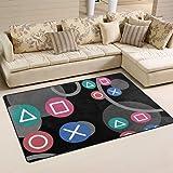 Area Rugs Pad Floor Mat Controller Ear Plugs Carpet Indoor Blanket for Dining Room Kids Nursery Playroom Sofa Living…