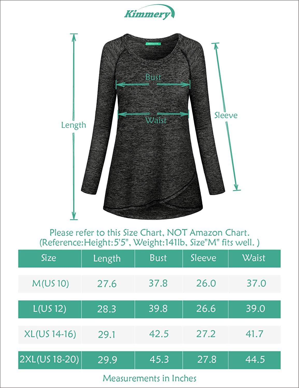 Kimmery Woman Raglan Sleeve Round Neck Irregular Hem Yoga Workout Shirt at  Women's Clothing store