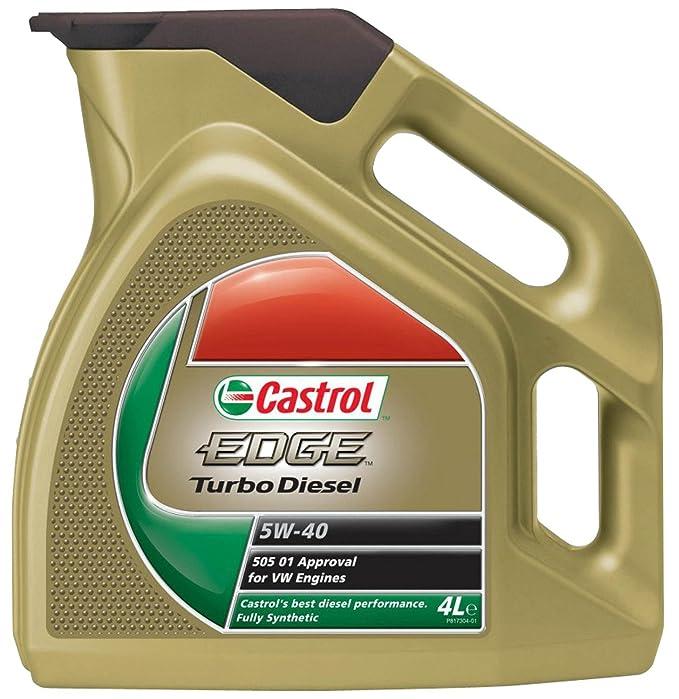 Castrol EDGE Turbo Diesel Aceite de Motores 5W-40 1L (Sello alemán): Amazon.es: Coche y moto