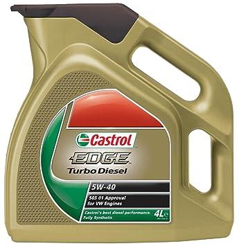 Castrol EDGE - Turbo Diesel Aceite de Motores 5W-40 4L: Amazon.es: Coche y moto