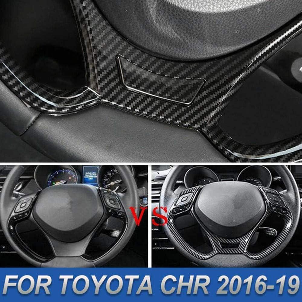 per Toyota C-HR CHR 2016 2017 2018 2019 YINSHURE Paillettes Volante in Fibra di Carbonio ABS con Adesivi Decorativi per Interni Decorazione Auto