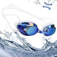 rabofly Occhialini Piscina, Anti UV Occhialini da Nuoto Anti Appannamento Nero per Adulti, Bambini +8 Anni