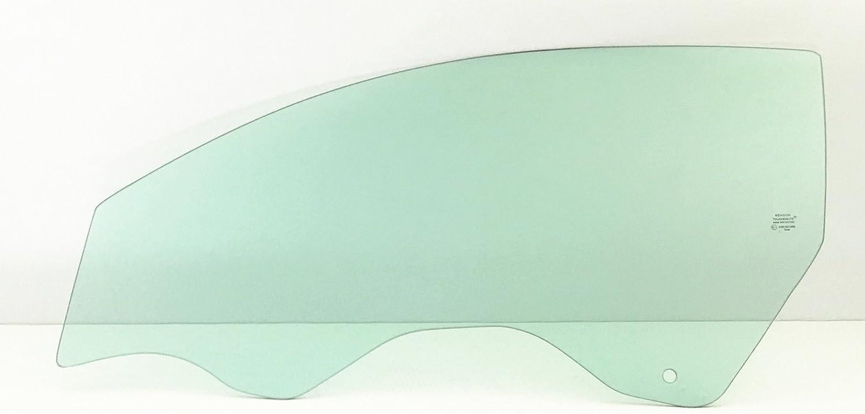 NAGD Driver Left Side Door Window Door Glass Compatible with Hyundai Accent 2 Door Hatchback 2007-2011 Models