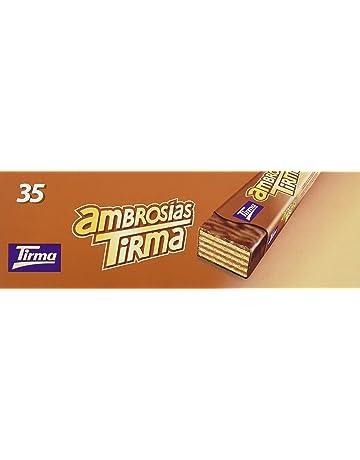 Tirma Ambrosías con Relleno Sabor Avellanas - 4 Paquetes de 35 Barritas - Total 140