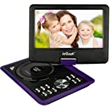 ieGeek 11'' Portable DVD Player with 5 Hour Rechargeable Battery, 360°LCD Eye Protection Swivel Screen, Supports 32GB SD Card and USB, with Remote Controller + Game Joystick +Car Charger (Purple)