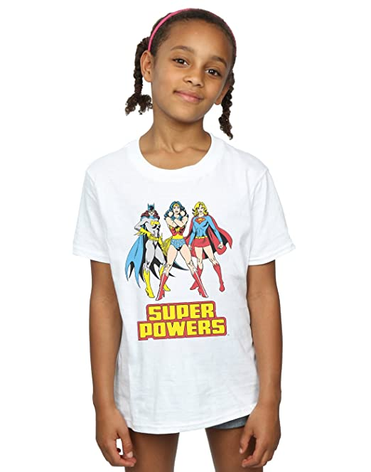 DC Comics niñas Wonder Woman Super Power Group Camiseta  Amazon.es  Ropa y  accesorios 585fb0a4f06db