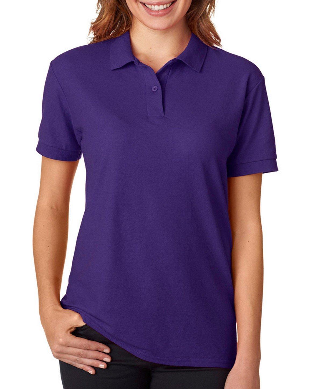 Gildan - Ladies DryBlend Double Pique Polo Shirt - 72800L-Purple-2XL
