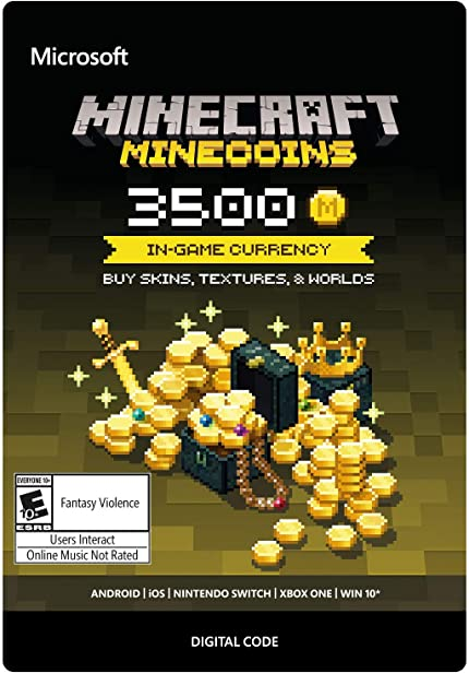 Amazon.com: Minecraft: Minecoins Pack: 3500 Coins - Xbox One ...