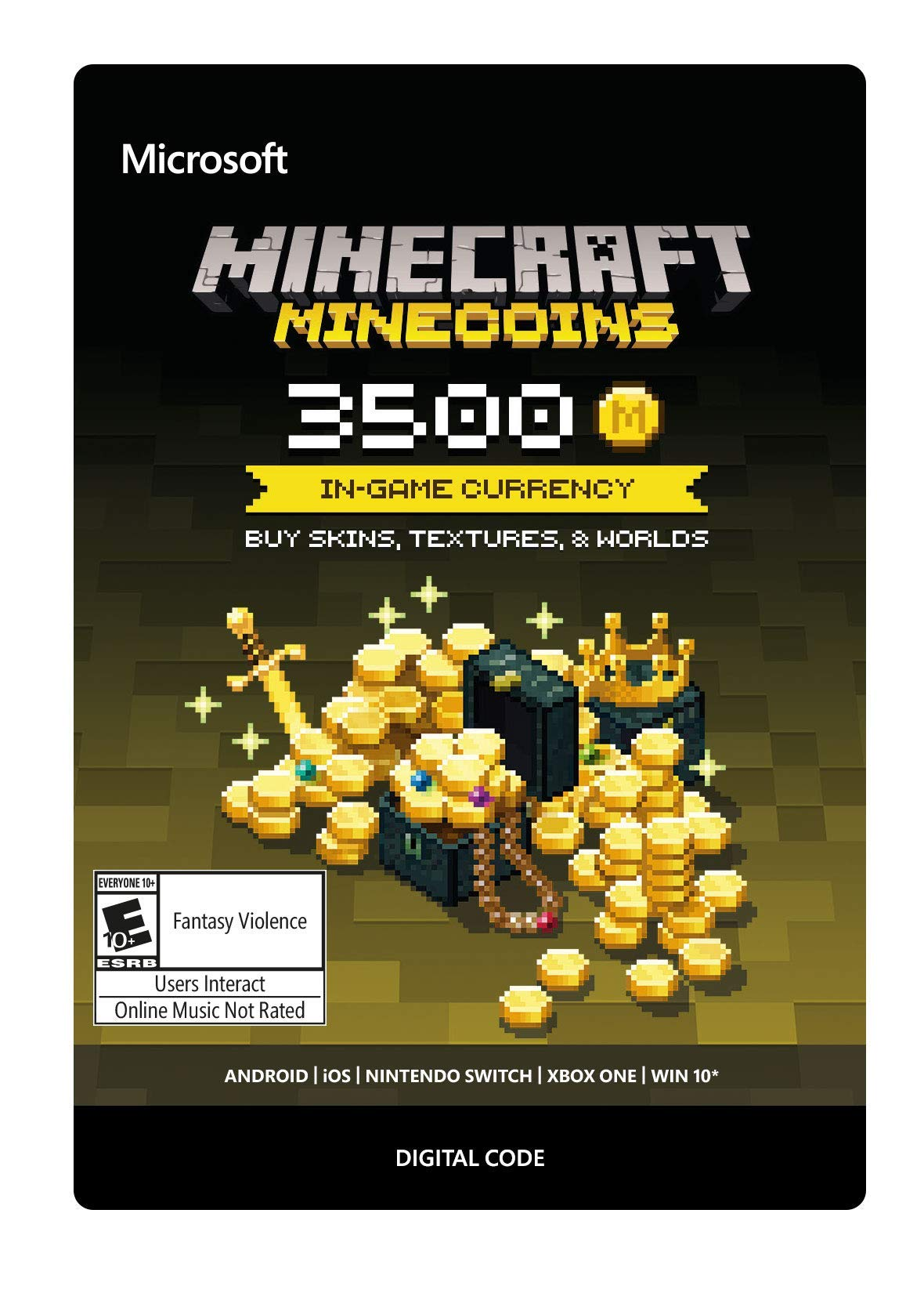 Minecraft: Minecoins Pack: 3500 Coins - Xbox One [Digital Code] by Microsoft