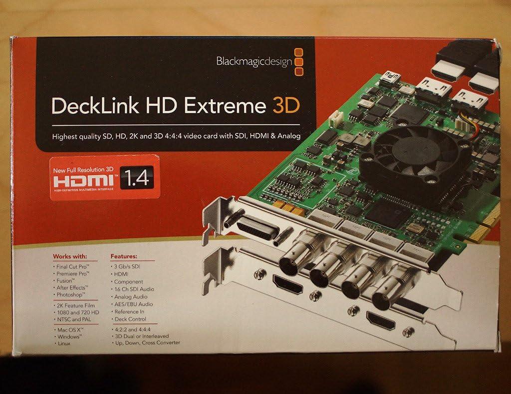 Blackmagic Design Decklink Hd Extreme 3d Amazon Co Uk Computers Accessories