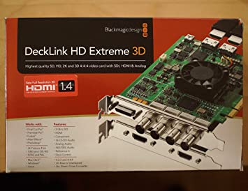 DECKLINK HD EXTREME 3D DRIVER PC