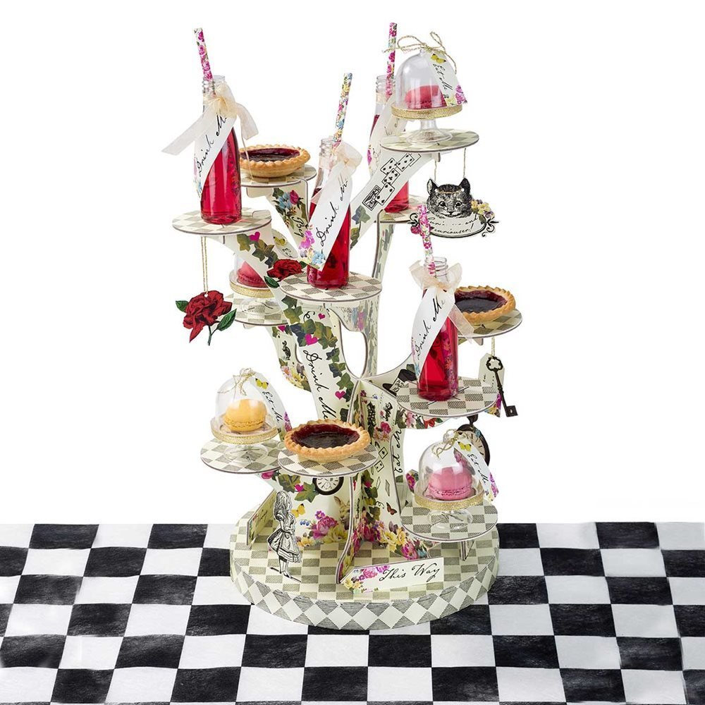 Alice in Wonderland Party Cupcake Stand Tree Shaped by Talking Tables