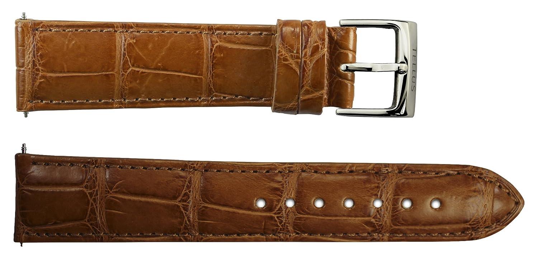 Armbanduhr lederarmband in Braun Alligator - 20 - - Schnalle in Edelstahl - B20038