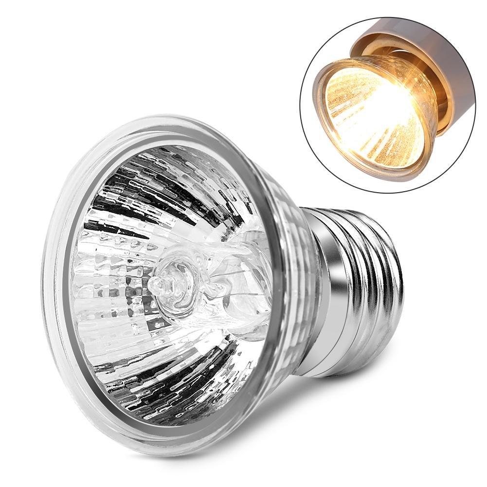 Lampadina alogena da 75W a luce UVB Lampadina a luce alogena con bulbo, lampada per rettilineo Lampada per riscaldamento a raggi UV Sun Luce serba per acquario per tartarughe acquatica Rettile lucerto Estink