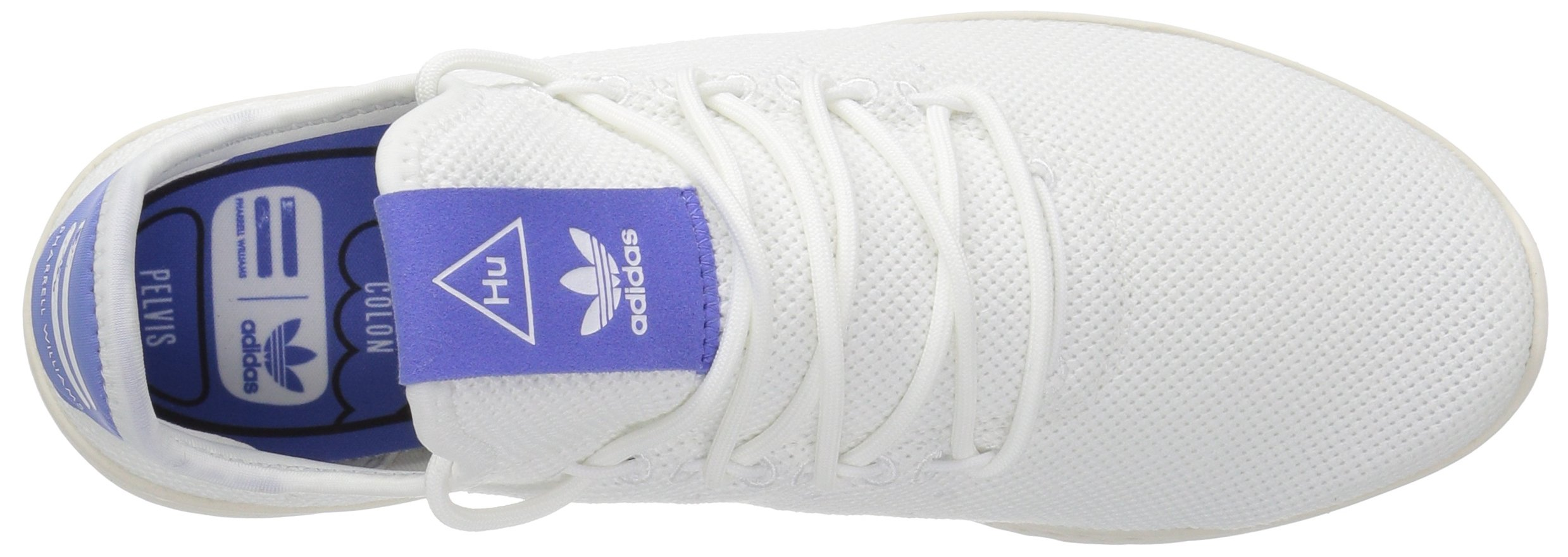 adidas Originals Men's Pharrell Williams Tennis HU Running Shoe, White/Chalk, 5.5 M US by adidas Originals (Image #7)