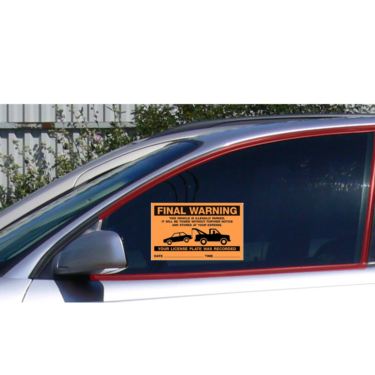 Amazon.com: Parking Violation Stickers For Illegal Parking Final Warning /  Very Hard To Remove and Super Sticky Permanent Adhesive (50 Pack) 8