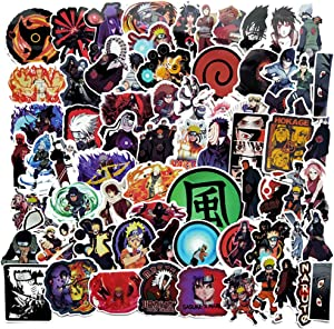 70 Pcs Naruto Anime Stickers Naruto Cartoon Decals for Water Bottle Hydro Flask Laptop Luggage Car Bike Bicycle Waterproof Vinyl Stickers Pack