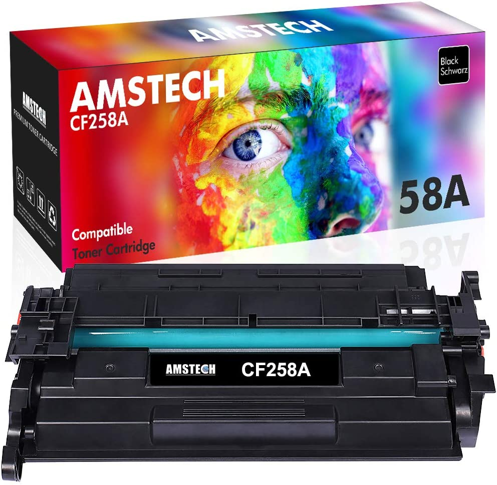 Amstech Compatible Toner Cartridge Replacement for HP 58A CF258A CF258X M428fdw Toner HP Laserjet Pro M404dn M404n M404dw M404 MFP M428 M428fdn M428dw M404 M428fdw Printer Ink (Black, 1-Pack)