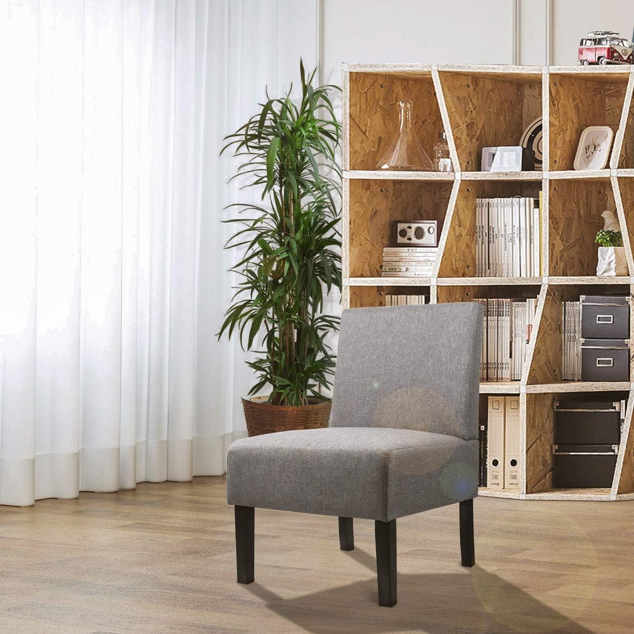 AODAILIHB Armless Accent Chair Modern Fabric Printing Leisure Chair Single Sofa Deco Living Room Bedroom Office Armless Chair