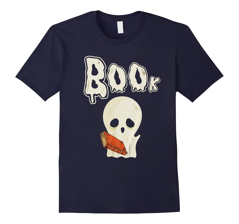 HALLOWEEN GHOST BOO BOOKS SHIRT, Booooks Scary TShirt-FL
