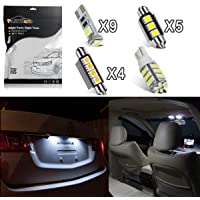 Partsam Interior Lights LED Package Kit Compatible with E46 Sedan Wagon Coupe 1999-2005 - White 16 Pieces