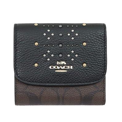 ae583bd29605 Amazon | [コーチ] COACH 財布 (三つ折り財布) F31969 ブラウン×ブラック ...